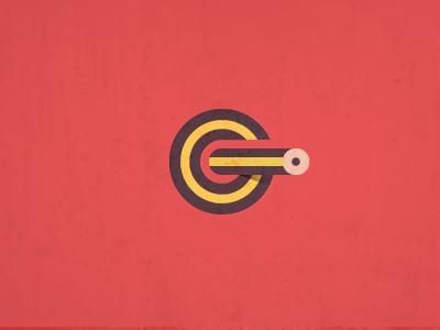G Pencil Target logo mark g target pencil