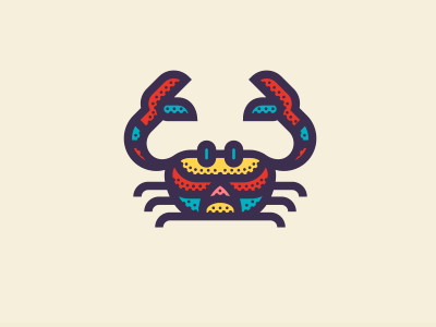 Crab crab sea simple illustration