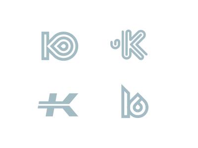 K technology sport water bottle letter k logo