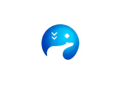 Polar Bear bird star polar polar bear icon brand mark bear symbol logo