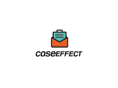Caseeffect logo mark brand concept creative logo mail business cause effect services