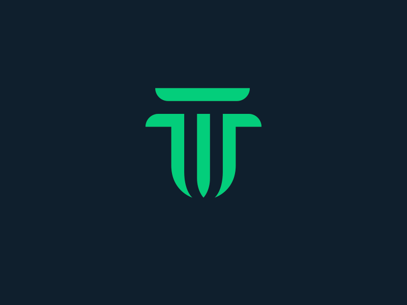 Walnut Technology china symbol monogram t w letter w letter t brand mark logo