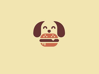 Woof burger dog woof mark logo creative concept