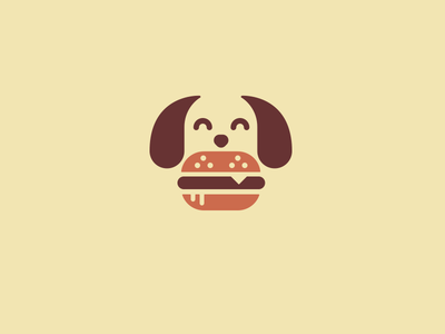 Woof burger dog woof mark logo creative concept