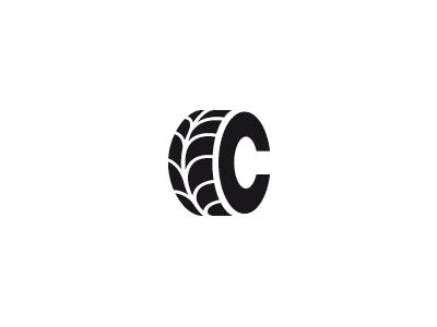 Cleanwheel logo mark brand concept creative logo letter c wheel tyre leaf eco green clean