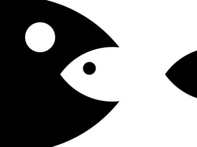 Bigfish little fish white space big fish