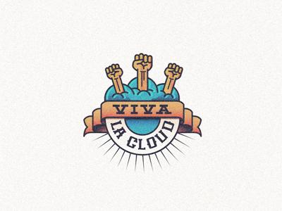Vivalacloud3 logo mark brand logo design logo designer creative logo creative cloud revolution social coworking fist