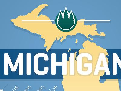 Michigan print concept midwest good type typography michigan design