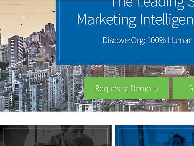 DiscoverOrg website concept detail design user interface good type typography b2b web design ui