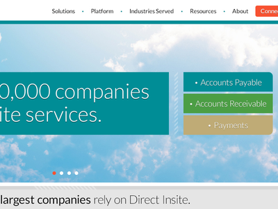 Direct Insite homepage detail user interface good type typography layout web design responsive mobile responsive design ui