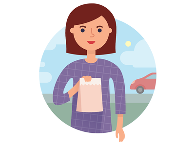 Delivery Gal illustration colors person vector