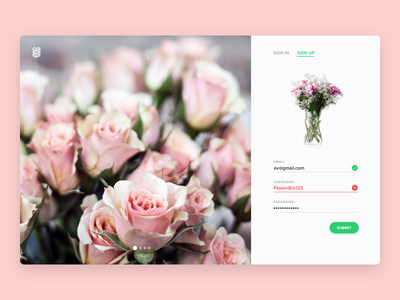 Daily UI #1: Sign Up slides form forms shadows onboarding flowers material sign up signup dailyui daily ui