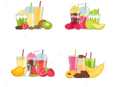 وکتور مجموعه اسموتی میوه و نوشیدنی vector pikfree فریپیک پیکفری اسموتی نوشیدنی میوه وکتور دانلود وکتور