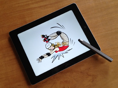 The Scorpion paperapp illustration drawing sketch ipad rollerderby freehand