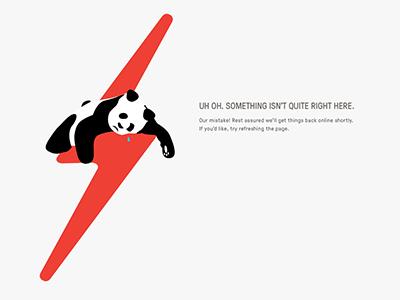 Sad Panda sad panda illustration server error 503 500 error fail page fail