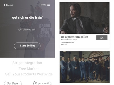 First design attempt on Figma starter-project web ux design