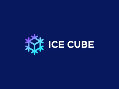 Ice Cube snow identity branding symbol sign snowflake cube ice mark logo smolkinvision