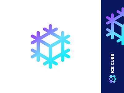 Ice Cube identity symbol frozen box cube ice snowflake snow mark logo smolkinvision