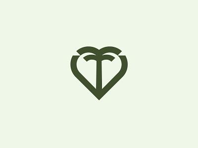Palm heart palm sign symbol identity branding mark logo smolkinvision