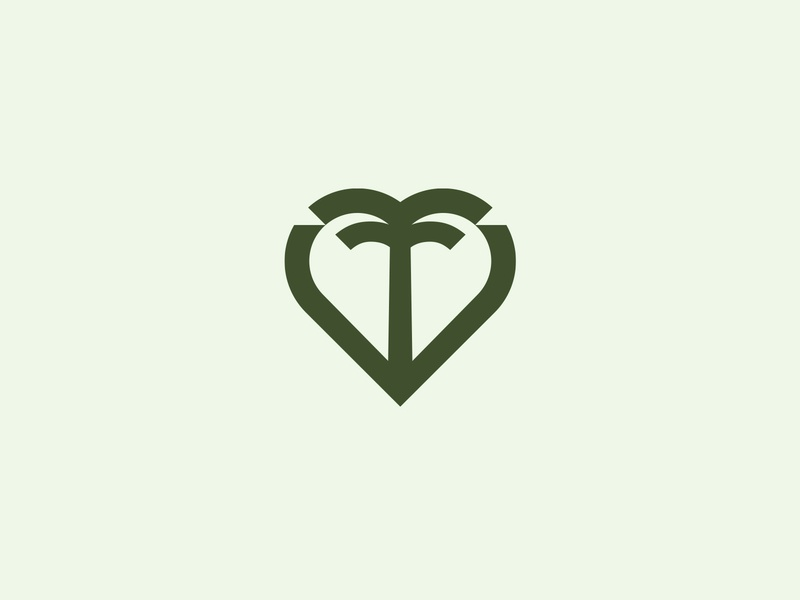 Palm heart palm sign symbol identity branding mark logo smolkinvision