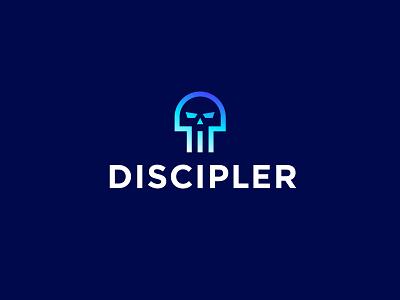 Discipler guru master dead discipler d skull sign symbol identity branding mark logo smolkinvision