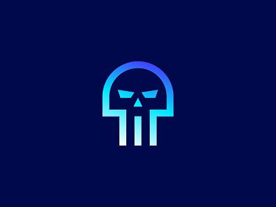Skull guru d skull sign symbol identity branding mark logo smolkinvision