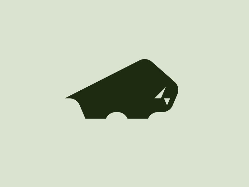 Buffalo buffalo bisone sign symbol identity branding mark logo smolkinvision
