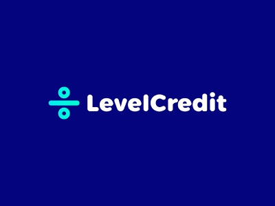 LevelCredit level logotype icon sign symbol identity branding mark logo smolkinvision