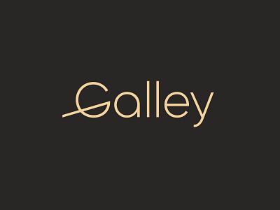 Galley ship boat galera galley logotype identity branding mark logo smolkinvision