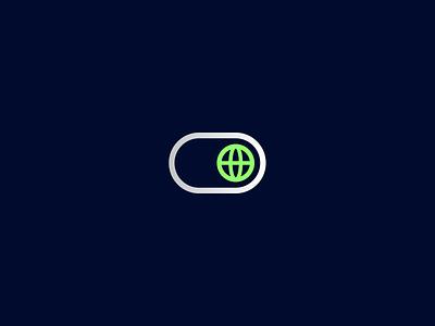 Smart Era button switch world globe toggle logotype icon sign symbol identity branding mark logo smolkinvision