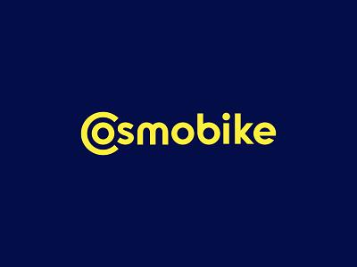 Cosmobike wheel sharing scooter logotype icon sign symbol identity branding mark logo smolkinvision