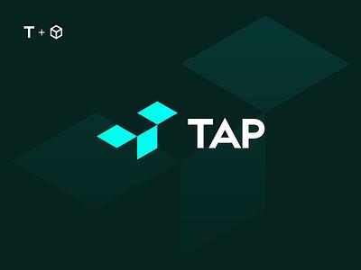 TAP open box t logotype icon sign symbol identity branding mark logo smolkinvision