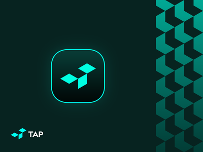 TAP Icon open box t logotype icon sign symbol identity branding mark logo smolkinvision