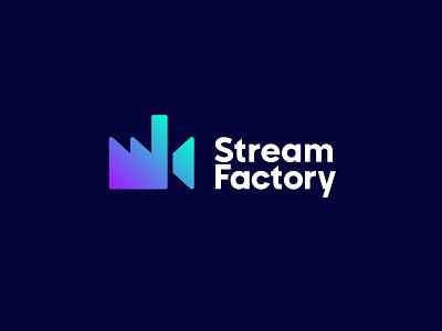 Stream Factory design sign symbol identity branding mark logo smolkinvision stream factory camera video