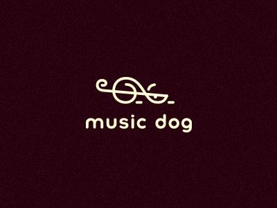 Music dog smolkinvision smolkinvladislav mark clef treble dog logo music key
