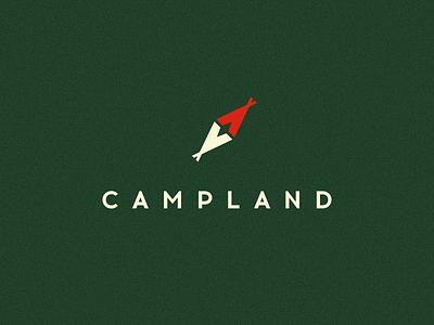 Campland smolkinvision smolkinvladislav mark logo travel tent compass land camp