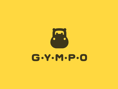 Gympo smolkinvision smolkinvladislav mark logo gym hippopotamus hippo kettlebell