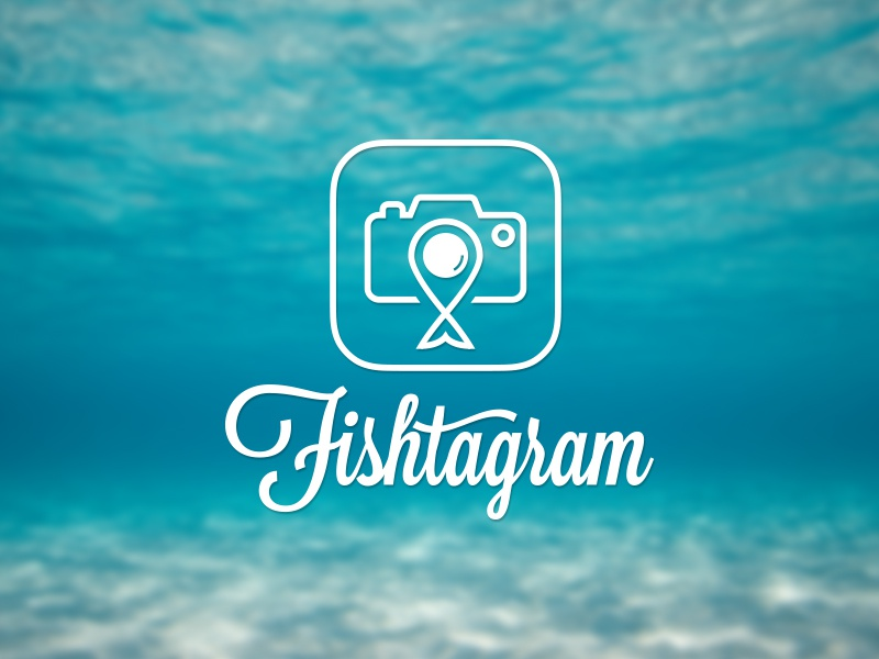 Fishtagram Logo logos icons ios app