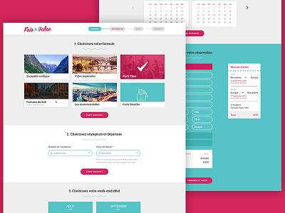 Fais Ta Valise Checkout responsive webdesign uiux
