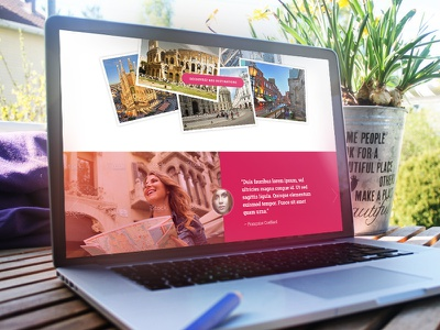 Fais Ta Valise (detail) responsive webdesign uiux