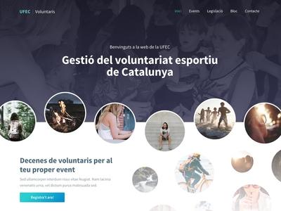 UFEC Voluntaris landing page webdesign