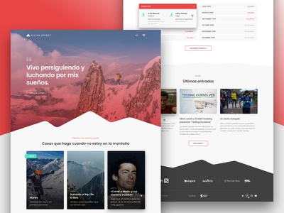Kilian Jornet Home Redesign snow mountaineering alpinism sports kilian jornet webdesign ui