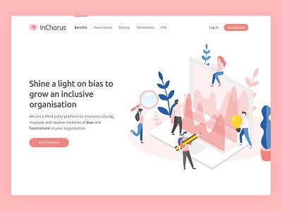 InChorus Web ui design landing page webdesign