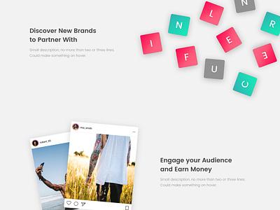 Landing Influencers 02 ui design webdesign influencer landing page