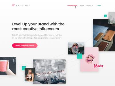 Landing Influencers 01 ui design webdesign influencer landing page