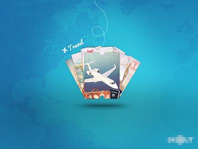 Travel Pass ui graphic design promotional travel blue iphone