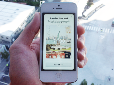 Travel Pass ui mobile design app photoshop simple beautiful iphone 5 new york