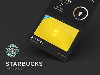 Starbucks Update starbucks ui clean ios7 photoshop san francisco iphone ui design ux flat design fresh