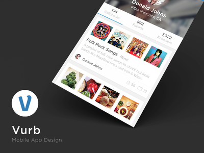 Vurb App ui ux mobile iphone 5 photoshop graphic design logo icons ui design