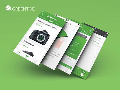 Greentoe IOS ui ux visual design photoshop illustrator san francisco ios android